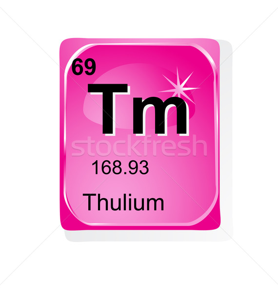 Chimiques élément atomique nombre symbole poids Photo stock © jelen80