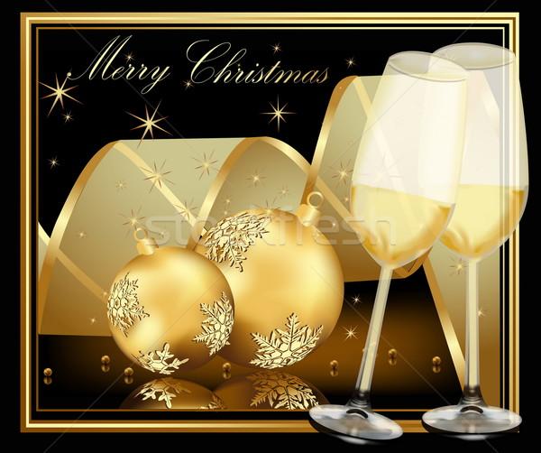 Gold Christmas background  Stock photo © jelen80