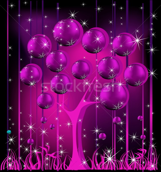 Christmas tree pink and silver Stock photo © jelen80