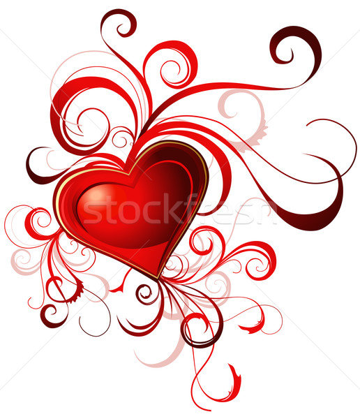 Valentine's red heart Stock photo © jelen80