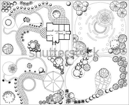 Vektor terv kert terv tájkép építészeti Stock fotó © jelen80