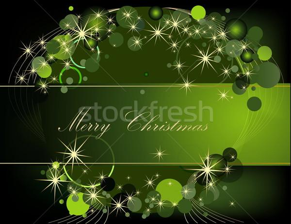 クリスマス 金 緑 光 ボックス 冬 ストックフォト © jelen80