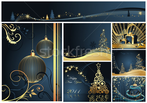 Merry Christmas and Happy New Year collection Stock photo © jelen80