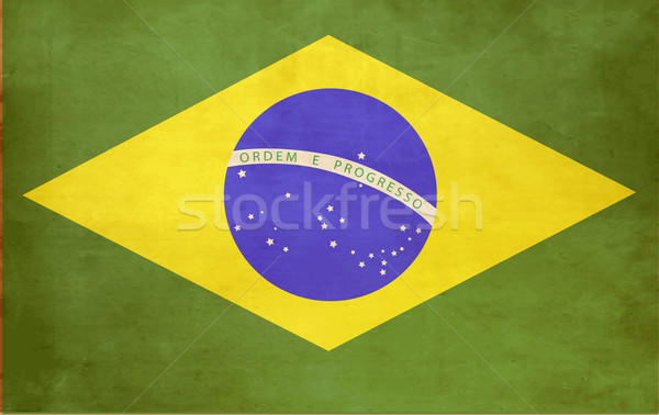 Brazília retro zászló papír szabadság beton Stock fotó © jelen80