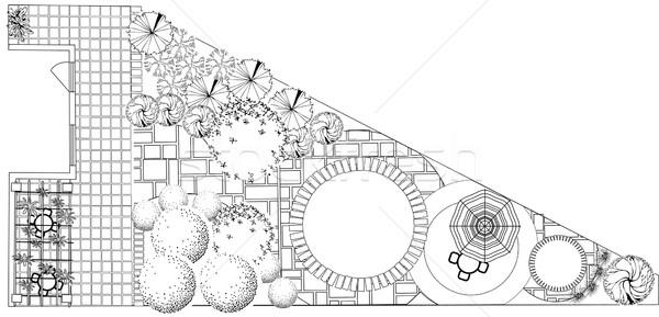 Plan of garden Stock photo © jelen80
