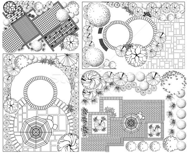 вектора пейзаж плана дома строительство Сток-фото © jelen80
