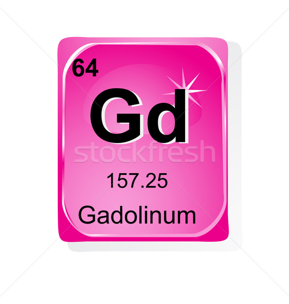 Gadolinum chemical element with atomic number, symbol and weight Stock photo © jelen80