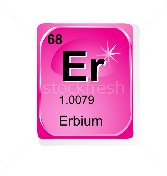 Erbium chemical element with atomic number, symbol and weight Stock photo © jelen80