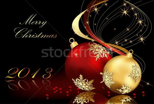 陽気な クリスマス 金 赤 光 ボックス ストックフォト © jelen80