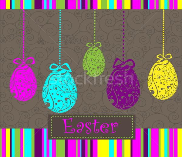 Kellemes húsvétot tojások húsvét étel boldog tojás Stock fotó © jelen80
