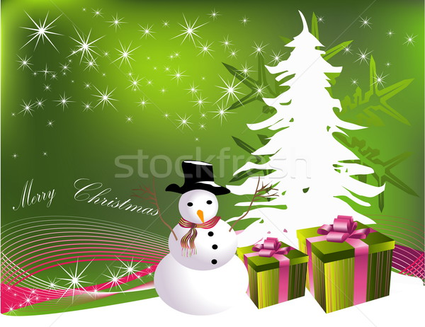 Christmas tree with gifts Stock photo © jelen80