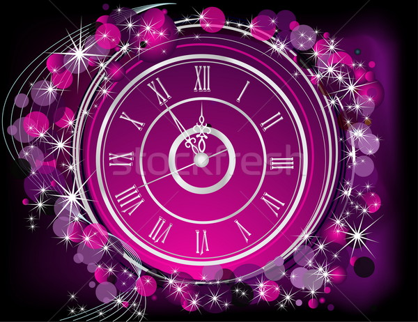 Happy New Year  background silver and violet Stock photo © jelen80