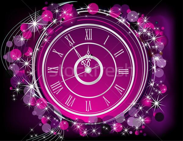 с Новым годом серебро фиолетовый свет зима время Сток-фото © jelen80