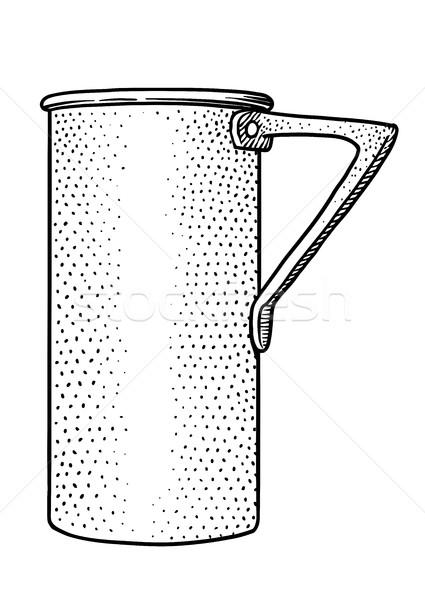 Measuring cup illustration, drawing, engraving, line art, vector Stock photo © JenesesImre