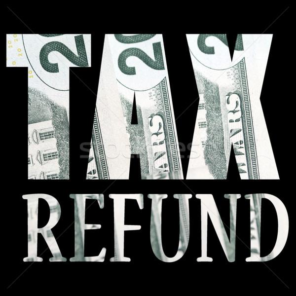Steuer Geld Steuern Währung Design Detail Stock foto © jeremynathan