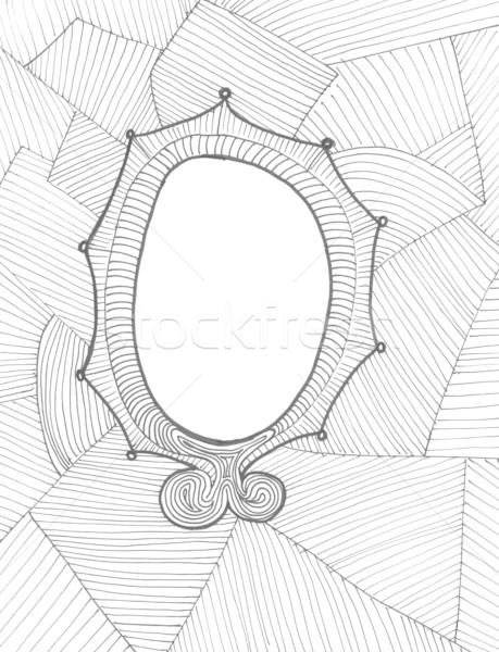 Dessinés à la main cadre doodle magnifique Photo stock © jeremywhat