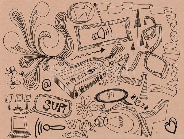 ランダム 手描き オフ デザイン ストックフォト © jeremywhat