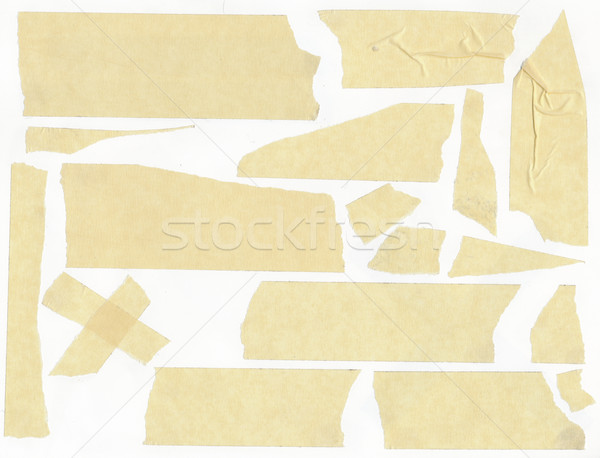 Stock photo: masking tape - isolated grunge stick adhesive piece paper scotch