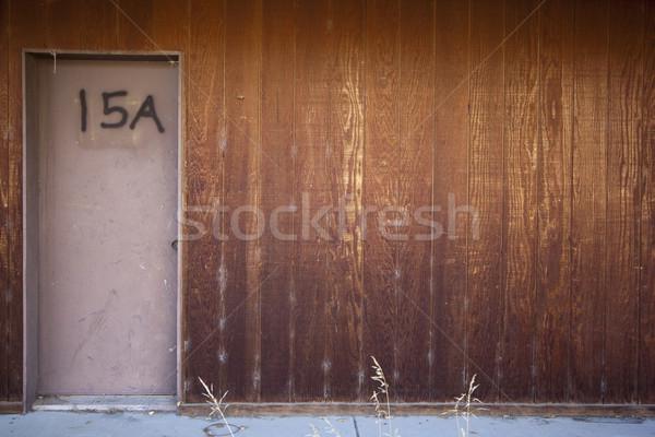 Hôtel porte chambre d'hôtel nombre 15 bois Photo stock © jeremywhat