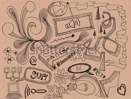 携帯電話 手描き オフ ストックフォト © jeremywhat