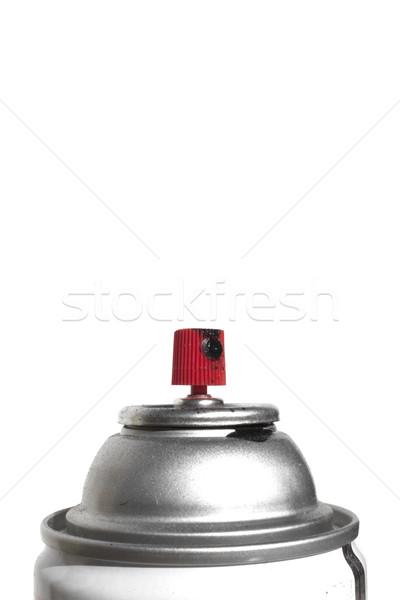 Graffitis peinture en aérosol peuvent main bouteille chute Photo stock © jeremywhat