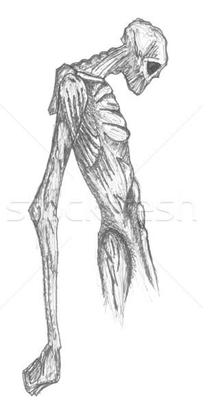 Kwaad skelet karakter groot Stockfoto © jeremywhat