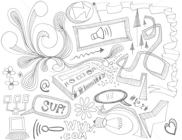 Dessinés à la main design dessin texture Photo stock © jeremywhat