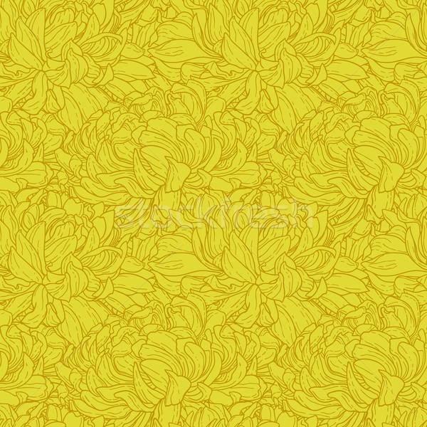 Stock photo: Seamless pattern with chrysanthemum