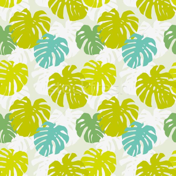 Seamless pattern with monstera leafs Stock photo © jet