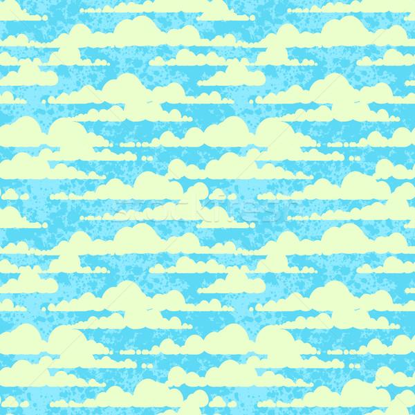 Felhők végtelenített textúra absztrakt természet terv Stock fotó © jet