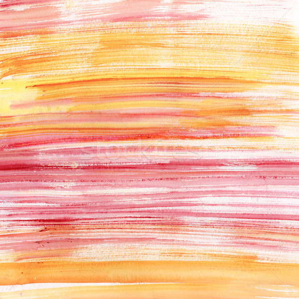 Pink and orange watercolor stripes Stock photo © jet