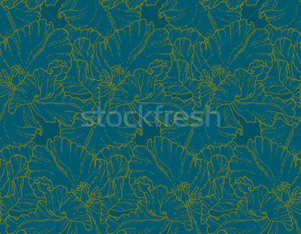 Seamless pattern with tulips Stock photo © jet