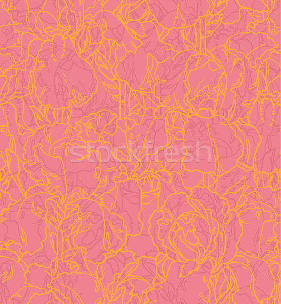 Seamless pattern with outlined irises Stock photo © jet