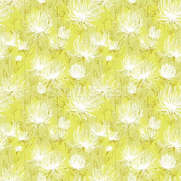 Fehér virágok minta vektor végtelen minta virág textúra Stock fotó © jet