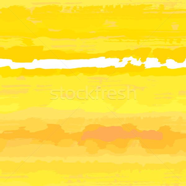 Napos citromsárga végtelenített textúra mintázott vízfesték Stock fotó © jet
