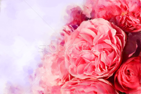 Painted pink roses Stock photo © jet
