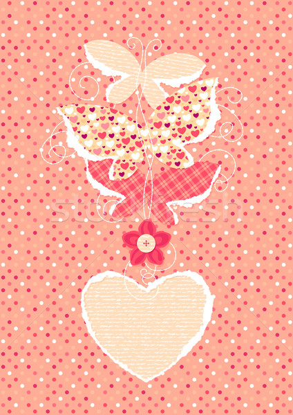 Valentine's Day background with butterflies Stock photo © jet