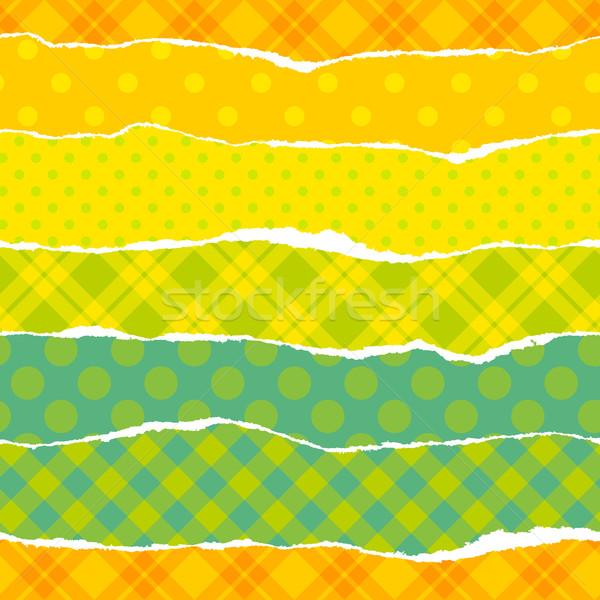Gescheurd inpakpapier naadloos vector trillend patroon Stockfoto © jet