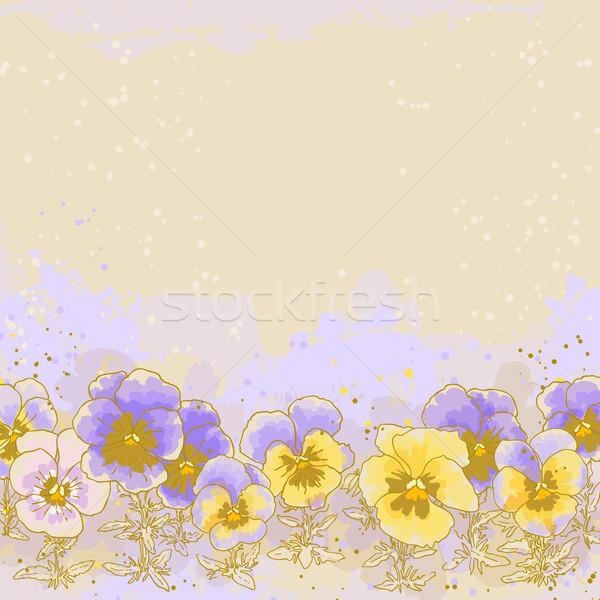 Gyönyörű tavasz esküvő keret művészet retro Stock fotó © jet