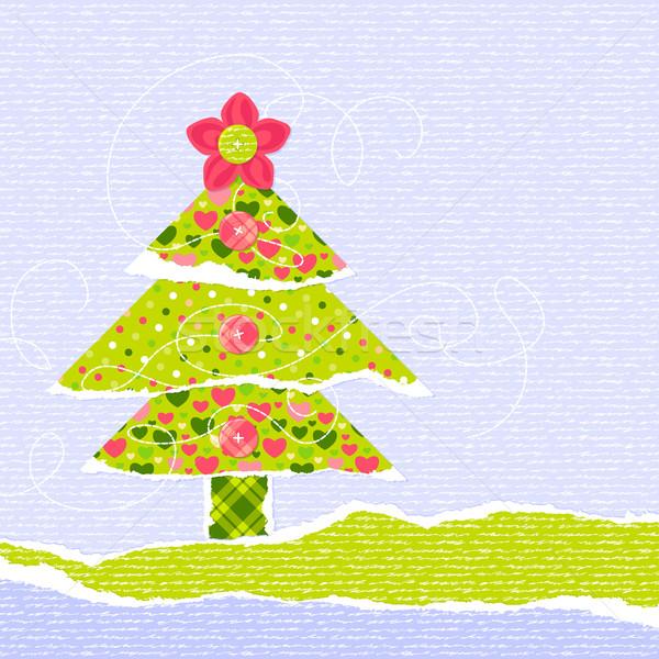 Stylish New Year or Christmas scrapbooking card Stock photo © jet