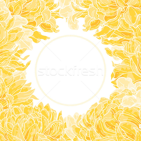 Floral frame with chrysanthemum Stock photo © jet