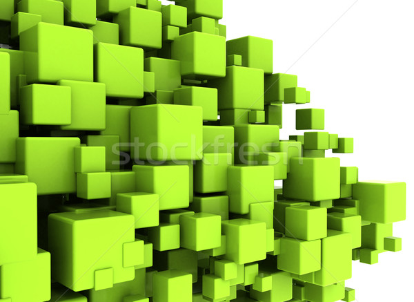 Green cubes abstract background  Stock photo © jezper