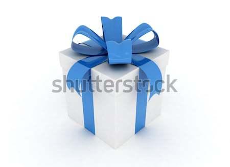 Blue gift box Stock photo © jezper