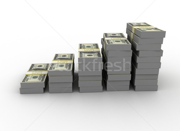 Graphique dollars blanche ordinateur Finance banque Photo stock © jezper