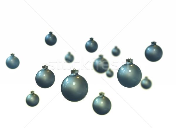 Stok fotoğraf: Mavi · Noel · beyaz · dizayn · cam