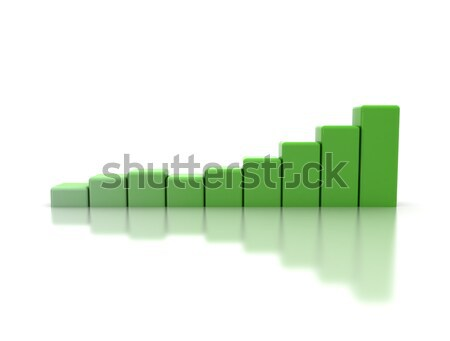 Green business graph Stock photo © jezper