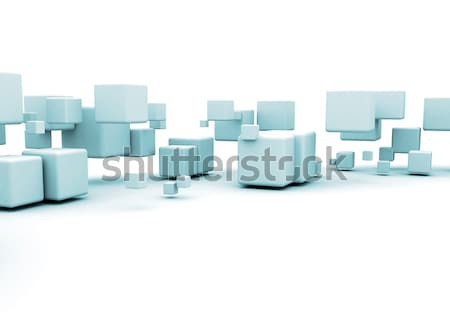 Metal cubes  Stock photo © jezper