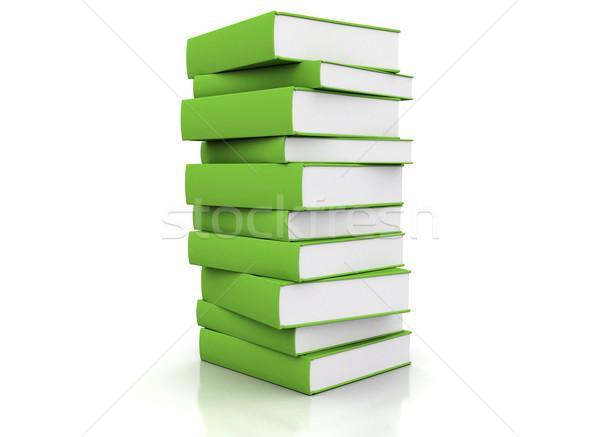 Pfund gestapelt grünen weiß Papier Buch Stock foto © jezper