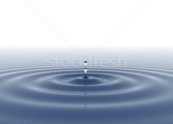 Vízcsepp kék vadvízi csepp fehér víz Stock fotó © jezper
