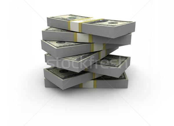 Nagy boglya pénz izolált fehér pénzügy Stock fotó © jezper